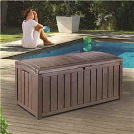 Keter Glenwood Plastic Garden Storage Box - 390 Litre Capacity