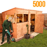 BillyOh 5000L Greenkeeper Premium Tongue and Groove Pent Shed