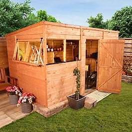 BillyOh 5000M Greenkeeper Premium Tongue and Groove Pent Shed - 8'x6'
