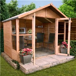 BillyOh 4000 Lucia Tongue and Groove Full Glazed Doors Summerhouse - 5'x5'