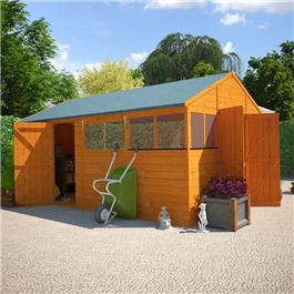 12 x 10 BillyOh 5000 Greenkeeper Premium Personnel Tongue and Groove Double Door Workshop