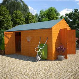 12 x 10 BillyOh 5000 Greenkeeper Windowless Premium Personnel Tongue and Groove Double Door Workshop