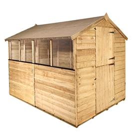 BillyOh 200M Classic Pressure Treated Overlap Stable Door Apex Garden Shed