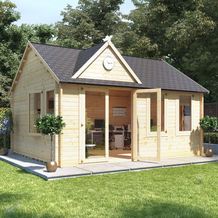 BillyOh Clubhouse Log Cabin  - Clubhouse II W4.5m x D4.0m