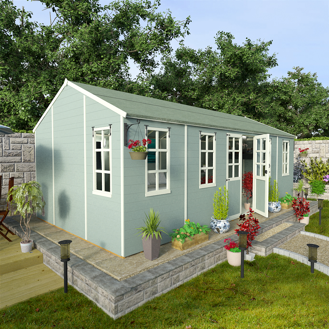 BillyOh 20 x 10 Eden Summer House - Summerhouse Direct 5000 Range