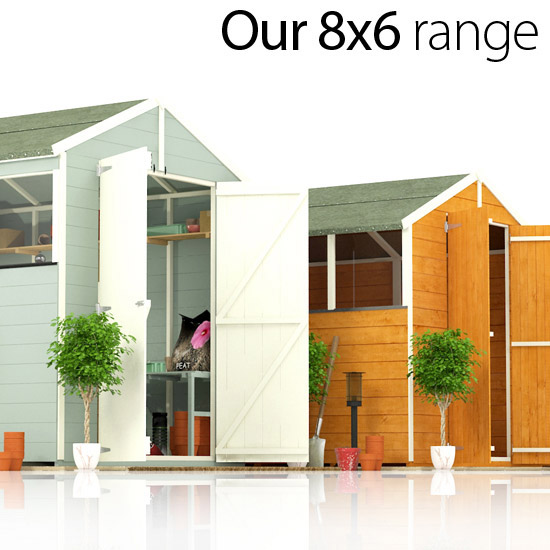 Introducing BillyOh's range of 8 x 6 sheds