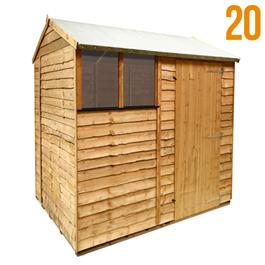 8 x 6 - BillyOh 20 Extra Tall Rustic Economy Overlap Reverse Apex Shed