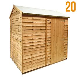 BillyOh 20 Windowless Rustic Economy Overlap Reverse Apex Shed