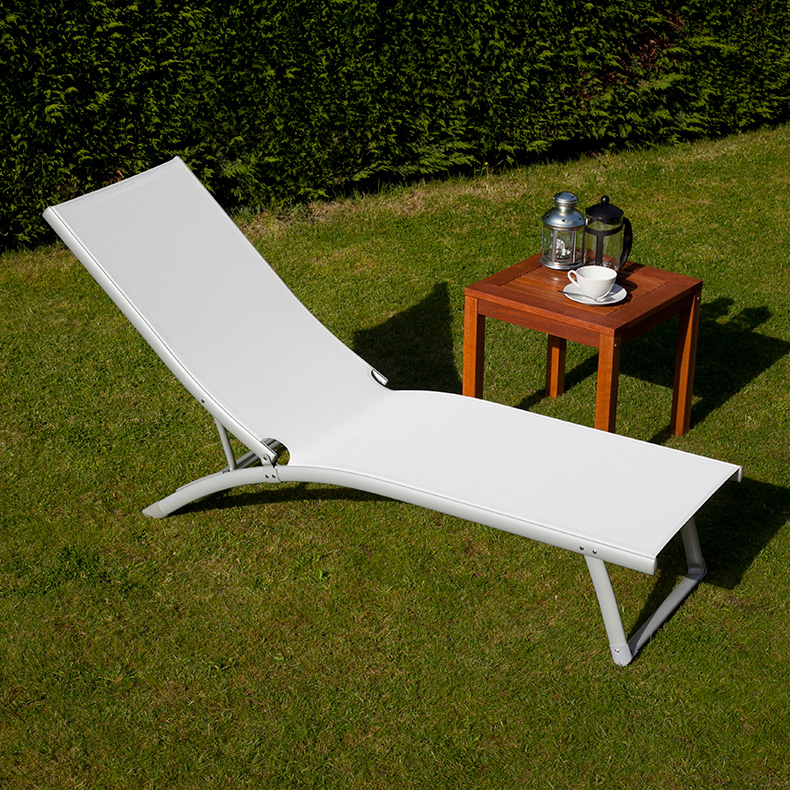BillyOh Rio White Textilene Sun Lounger