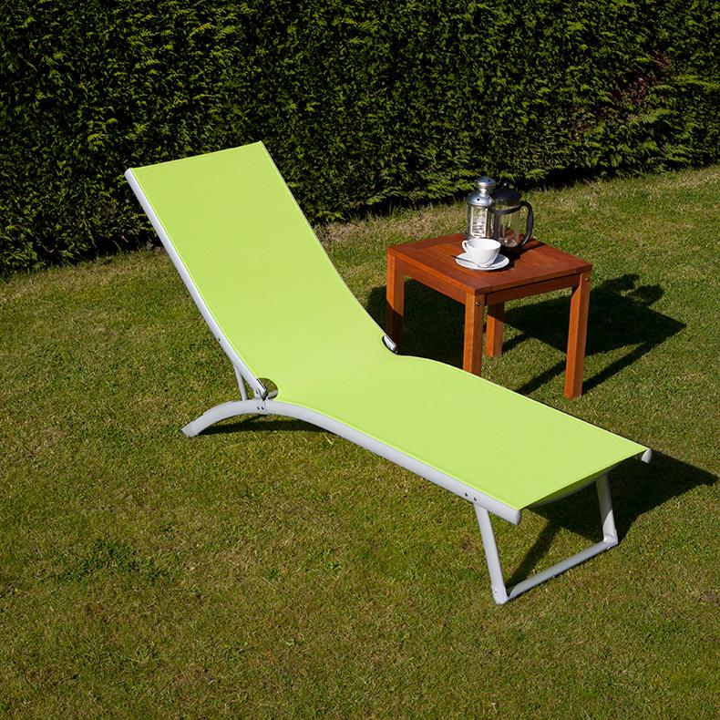 BillyOh Lime White Textilene Sun Lounger