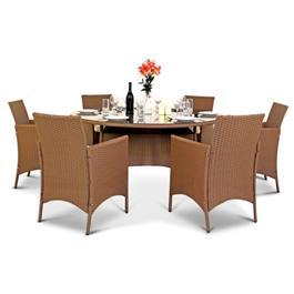 Mocha Brown 6 Seater Set