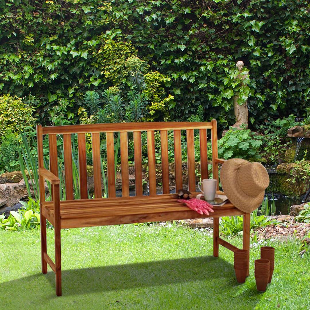 Alexander Rose 4ft Acacia Monte Carlo Garden Bench
