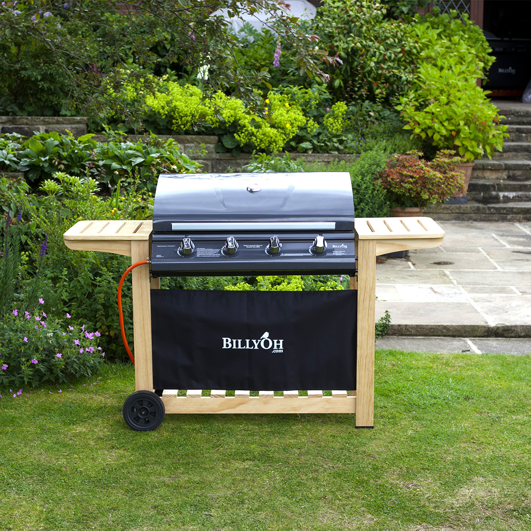 BillyOh Imperial 4 Burner Hooded Gas Hooded BBQ Barbecue