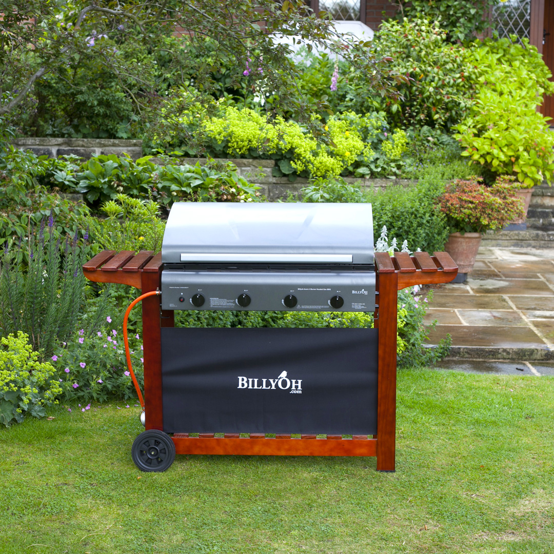 BillyOh 4 Burner Hooded Acorn Hooded Gas BBQ