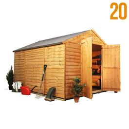 BillyOh 20L Windowless Rustic Economy Overlap Apex Shed