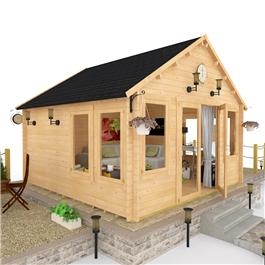 BillyOh Windsor Log Cabin - Windsor - W4.0m x D4.0m Offset Door