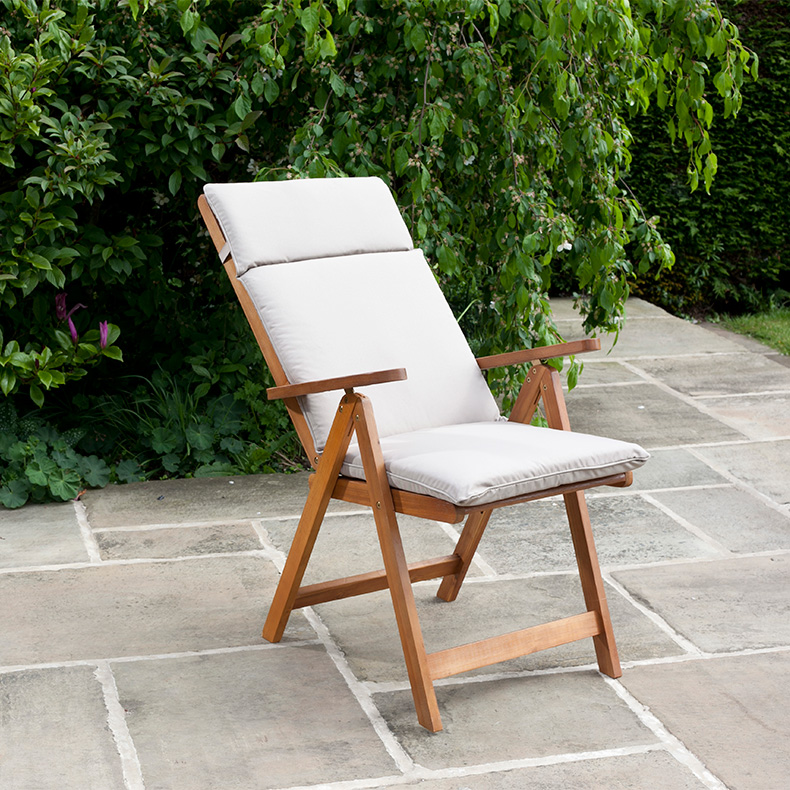 BillyOh Windsor 1 x Reclining Acacia Hardwood Garden Chair
