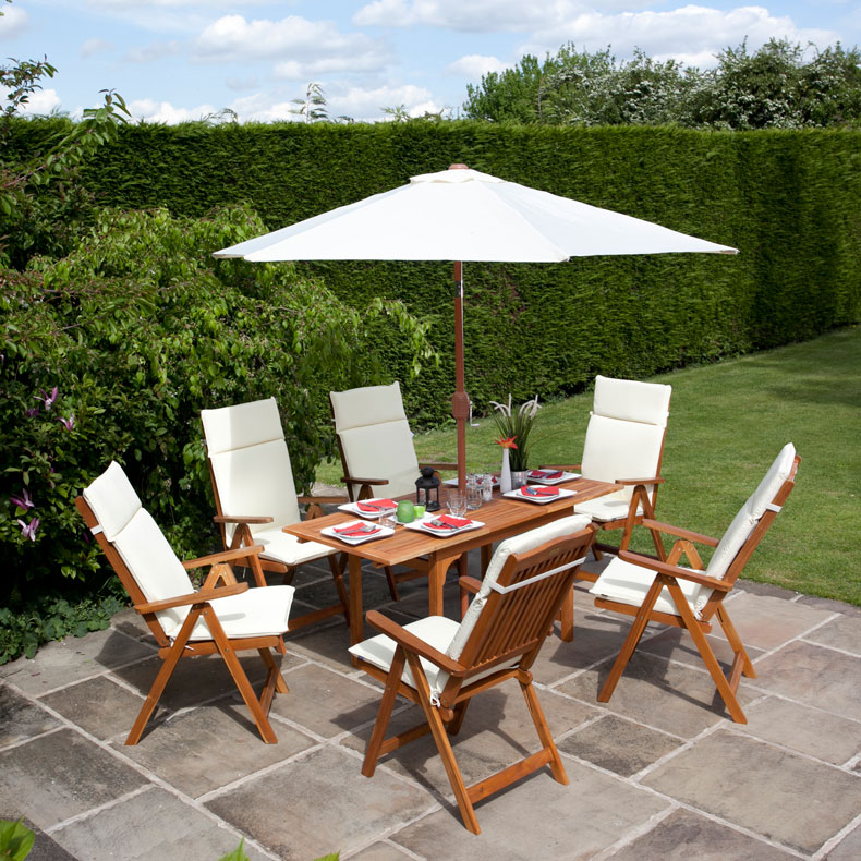 BillyOh 6 Seater Set Windsor Wooden Garden Furniture