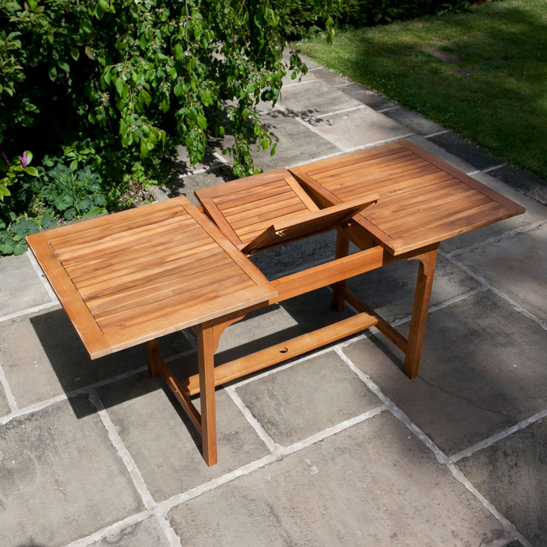BillyOh Windsor Acacia Outdoor Table - 1.2-1.6m Rectangular Extending
