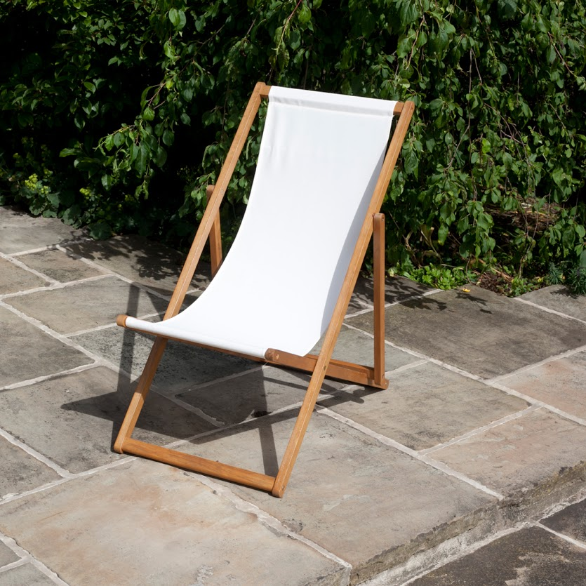 2 x Ecru Deck Chair