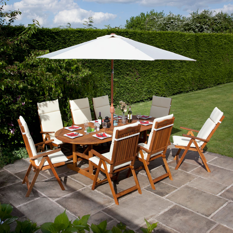 BillyOh 8 Seater Hampton 2.8m Extending Reclining Garden Set