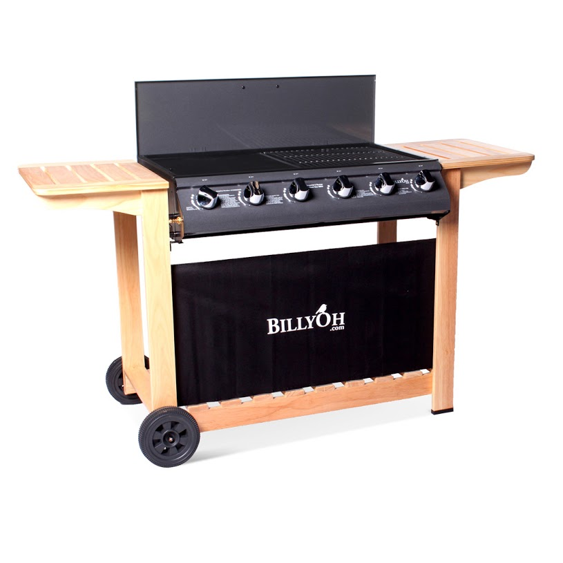 BillyOh Imperial Flat Bed 6 Burner  Gas BBQ Barbecue
