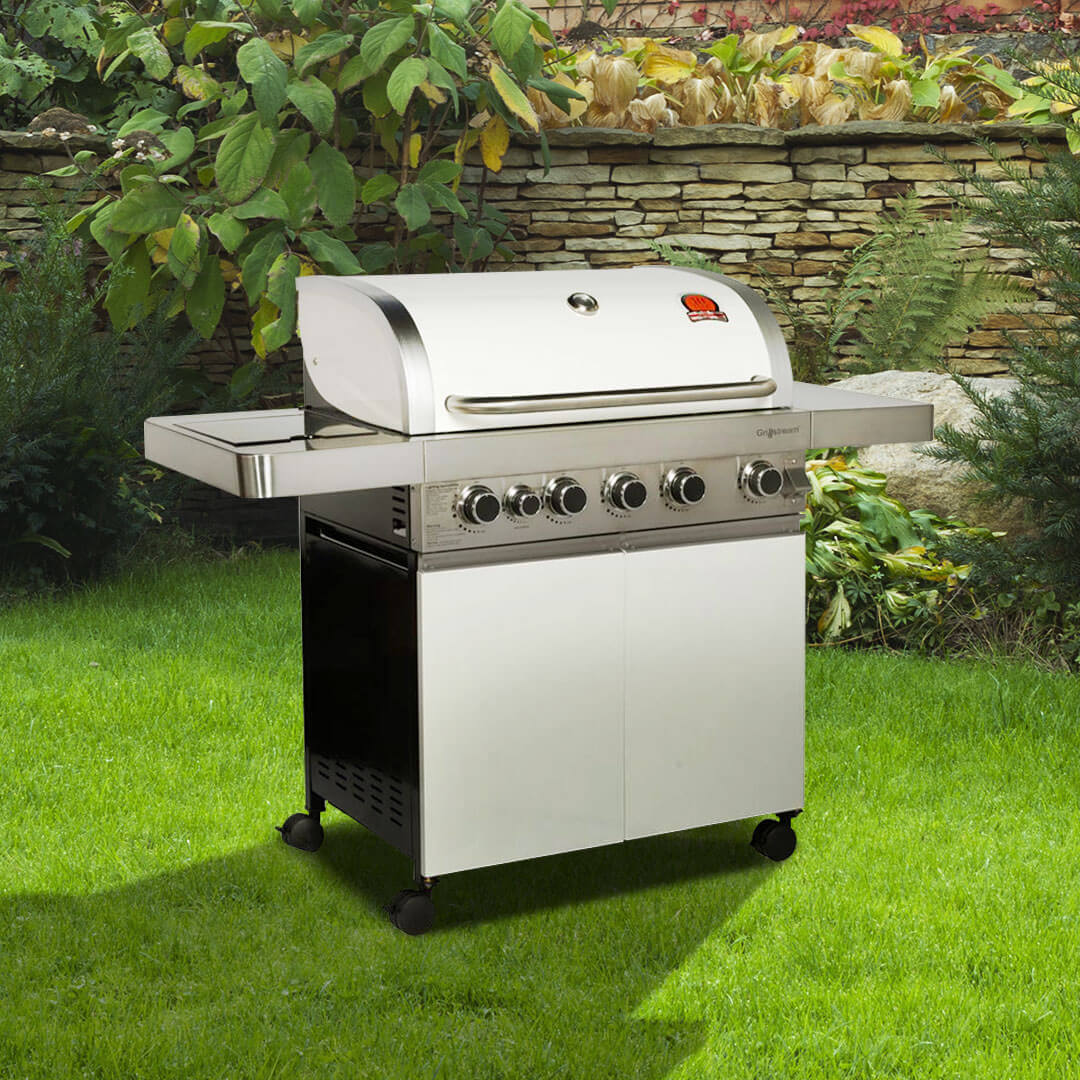 Click to view product details and reviews for Billyoh Prestige 5 Burner Hooded Gas Bbq.