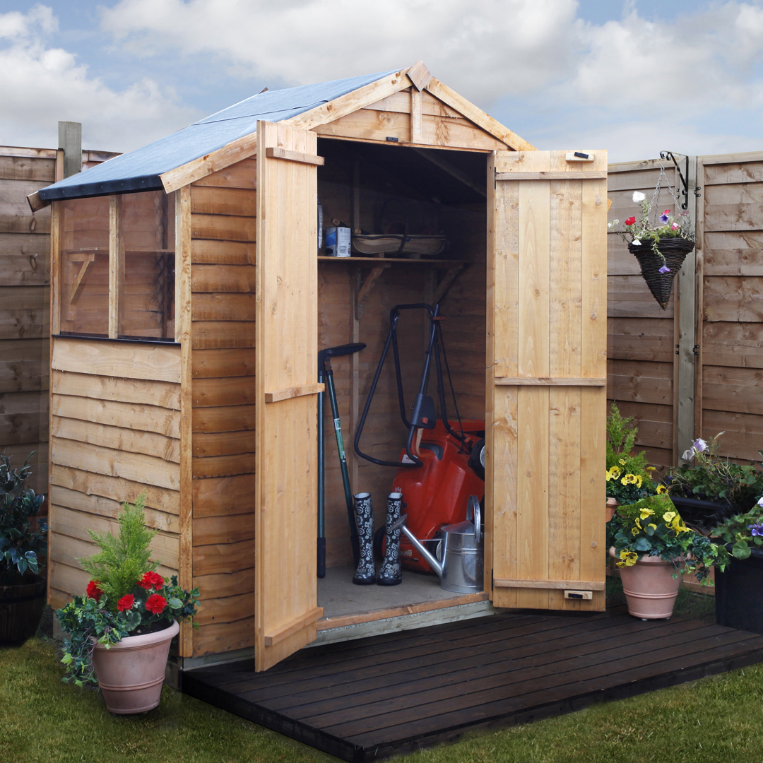 BillyOh 3 x 6 Windowed Rustic Overlap Apex Garden Shed 20 Range