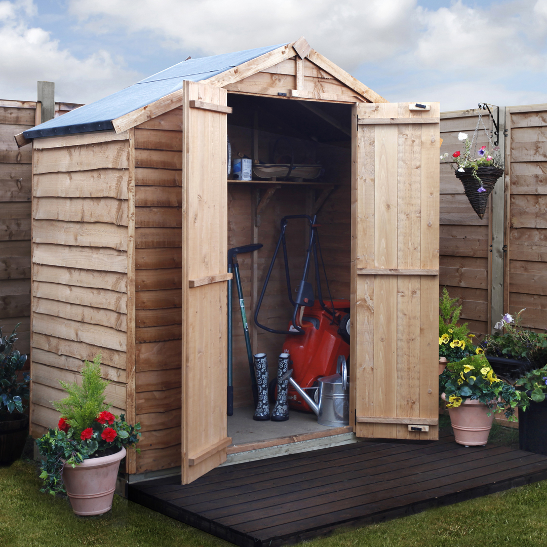 BillyOh 3 x 6 Windowless Rustic Overlap Apex Garden Shed 20 Range