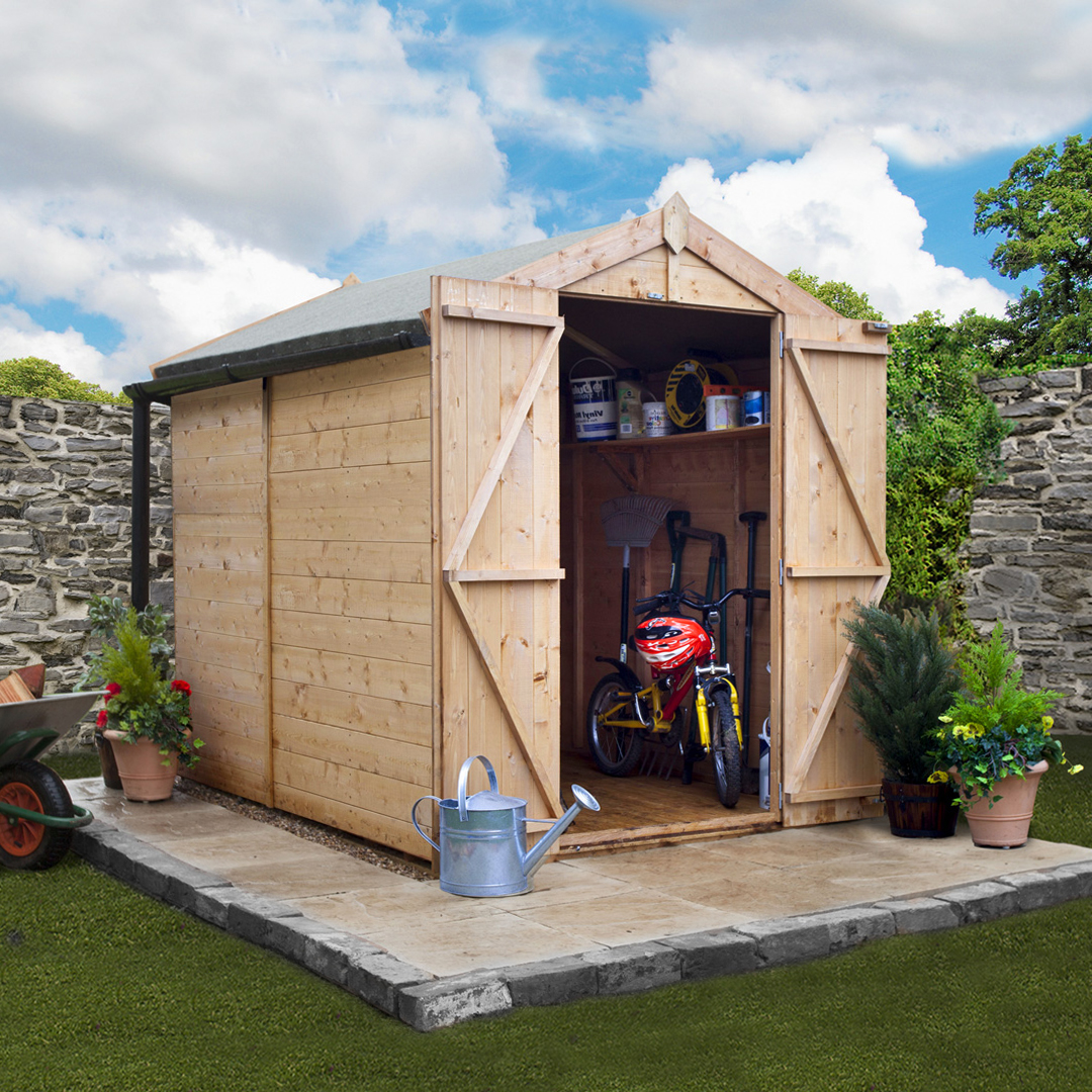 BillyOh 7 x 5 Windowless Tongue and Groove Apex Garden Shed 4000 Range