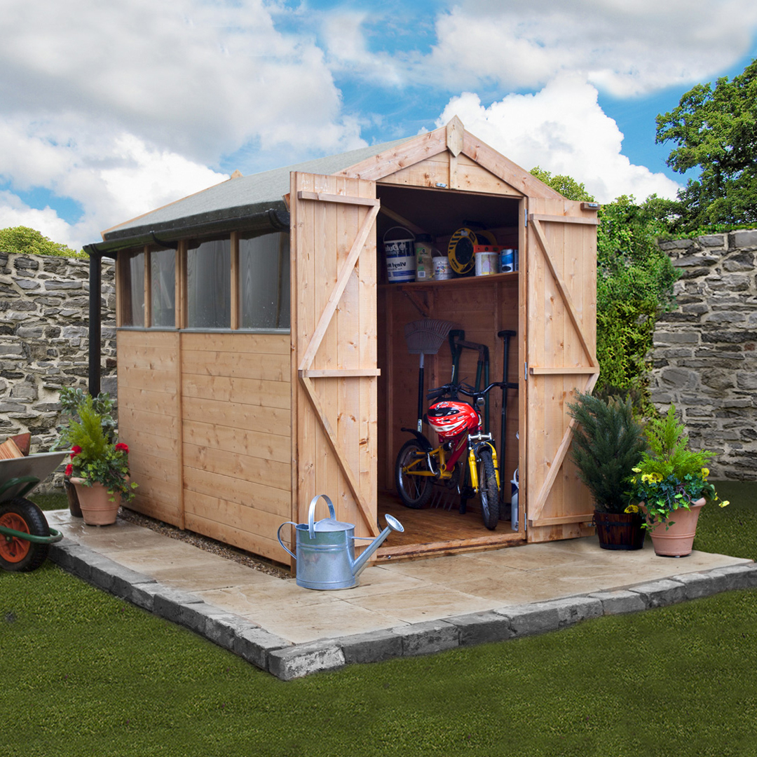 BillyOh 7 x 5 Windowed Tongue and Groove Apex Garden Shed  4000 Range
