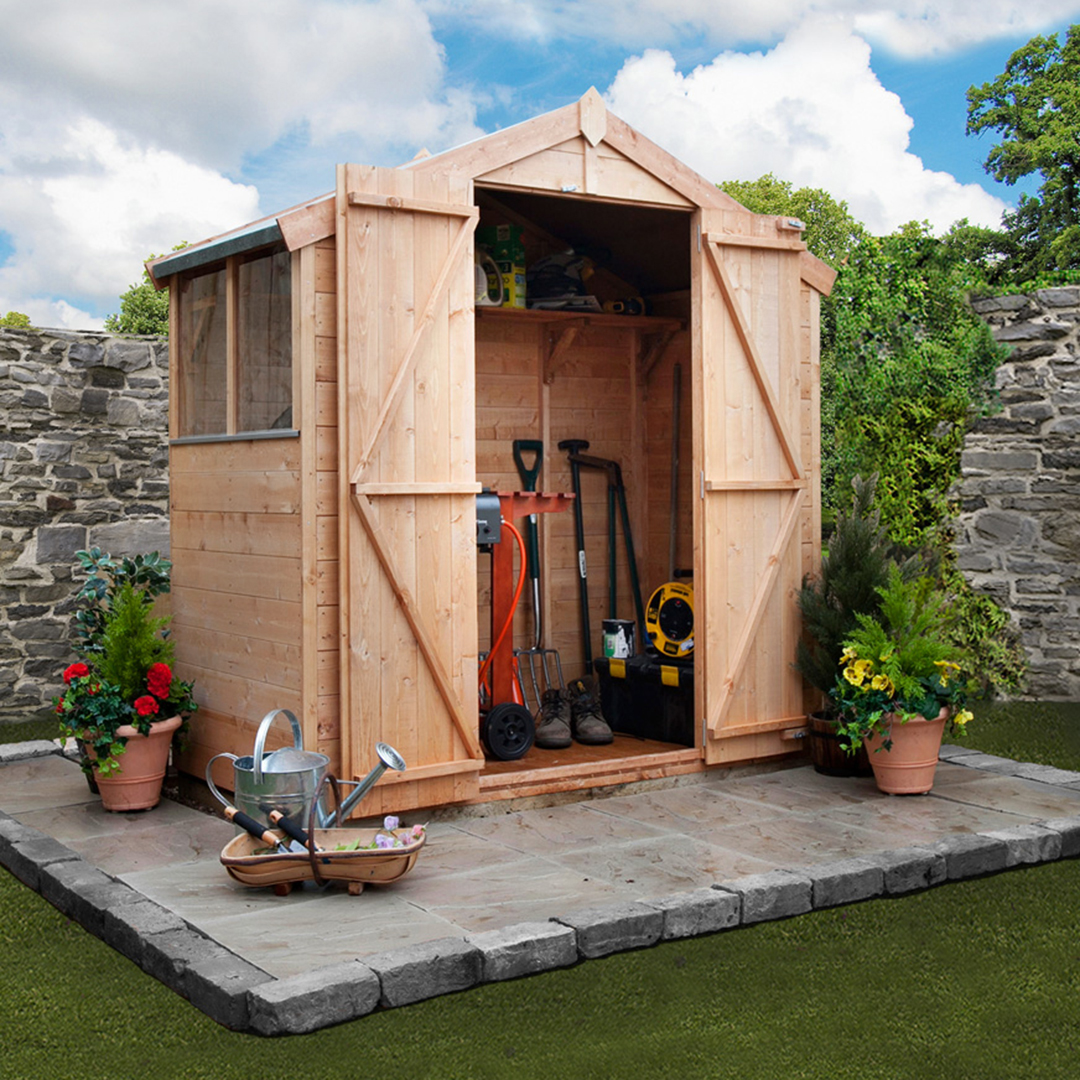 BillyOh 3 x 6 Windowed Tongue and Groove Apex Garden Shed 4000 Range