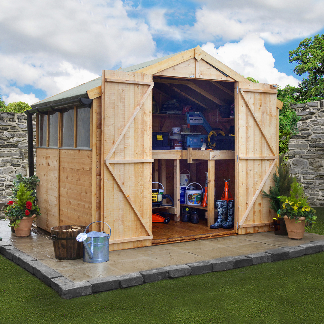 BillyOh 6 x 8 Windowed Tongue and Groove Apex Garden Shed 4000 Range