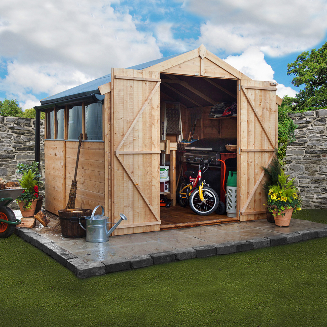 BillyOh 7 x 8 Windowed Tongue and Groove Apex Garden Shed 4000 Range