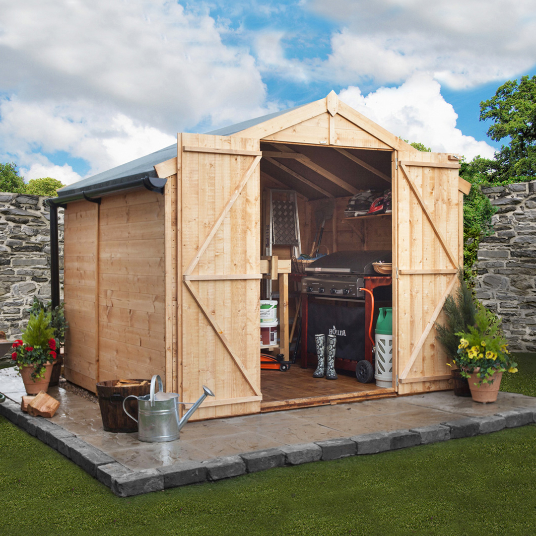 BillyOh 7 x 8 Windowless Tongue and Groove Apex Garden Shed 4000 Range
