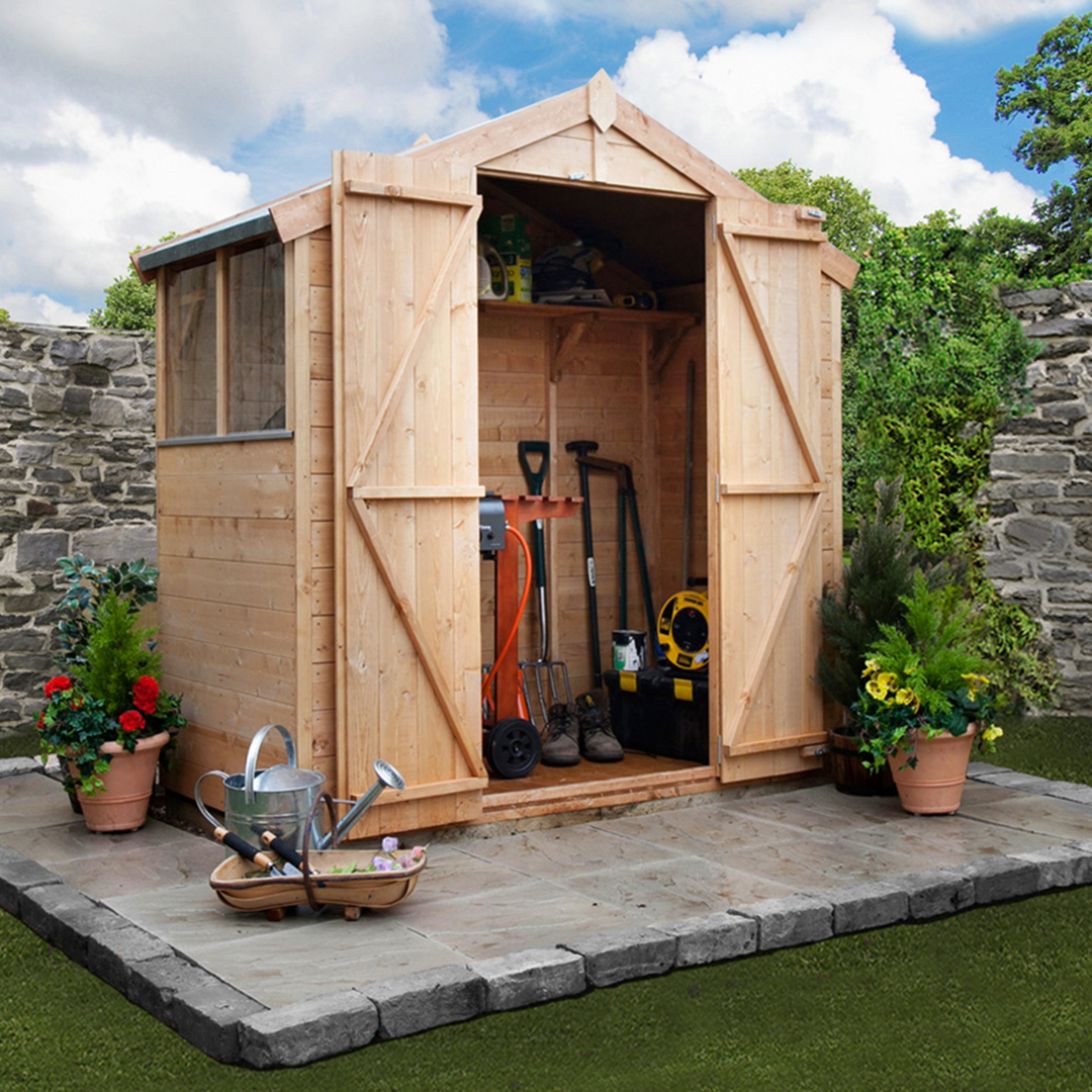 BillyOh 3 x 7 Windowed Tongue and Groove Apex Garden Shed 4000 Range