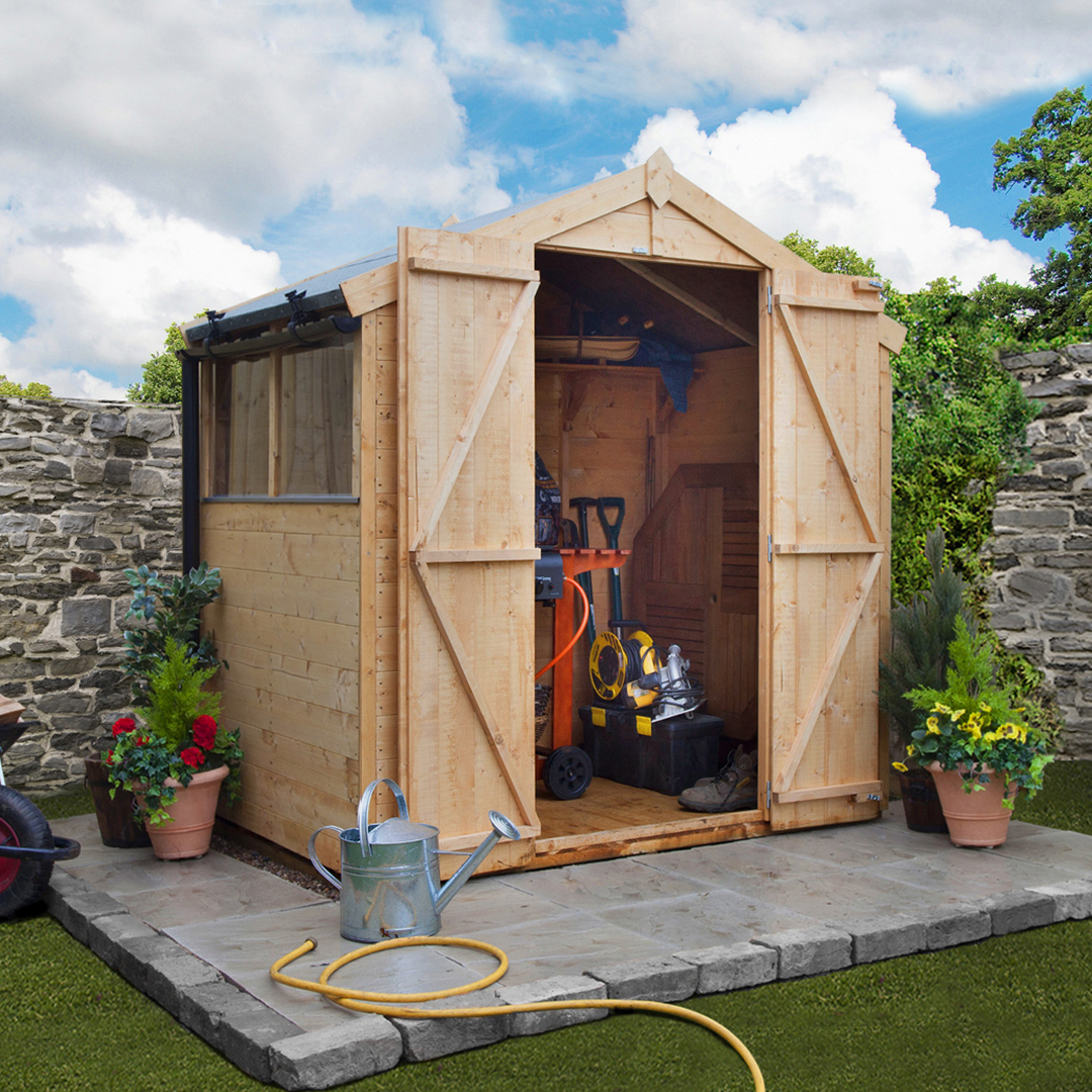 BillyOh 4 x 7 Windowed Tongue and Groove Apex Garden Shed 4000 Range