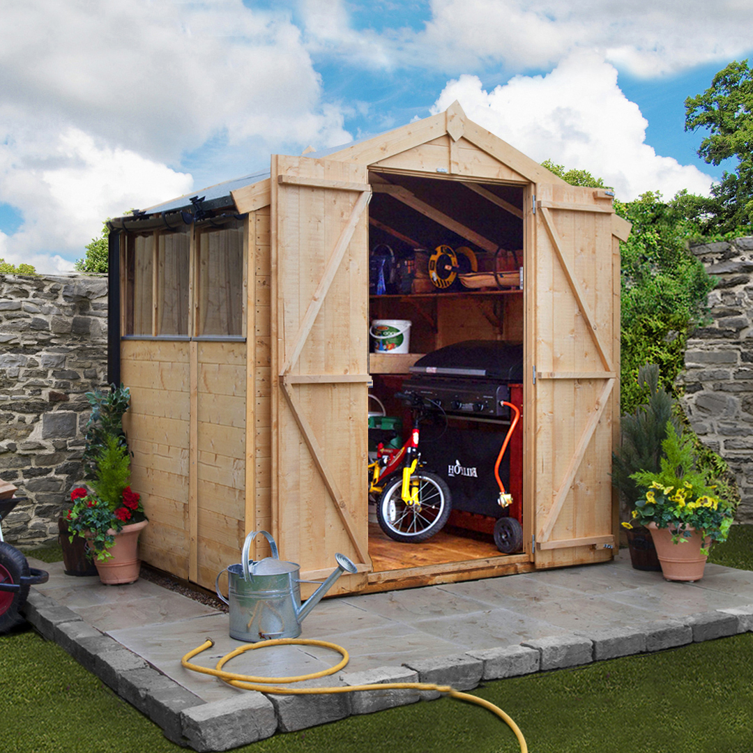 5 x 7 BillyOh 4000 Windowed Tongue and Groove Apex Garden Shed