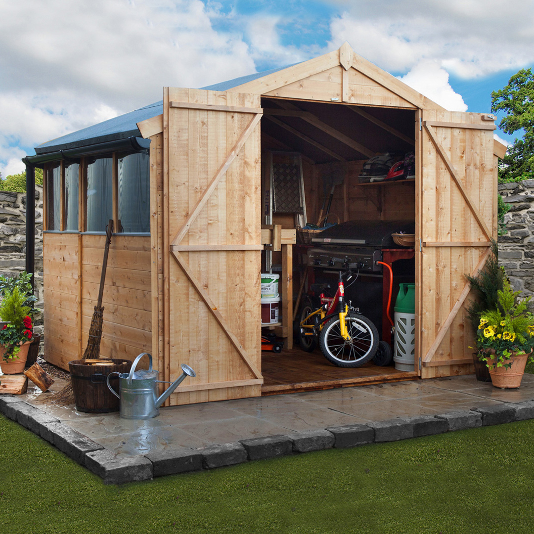 7 x 10 BillyOh 4000 Windowed Tongue and Groove Apex Garden Shed