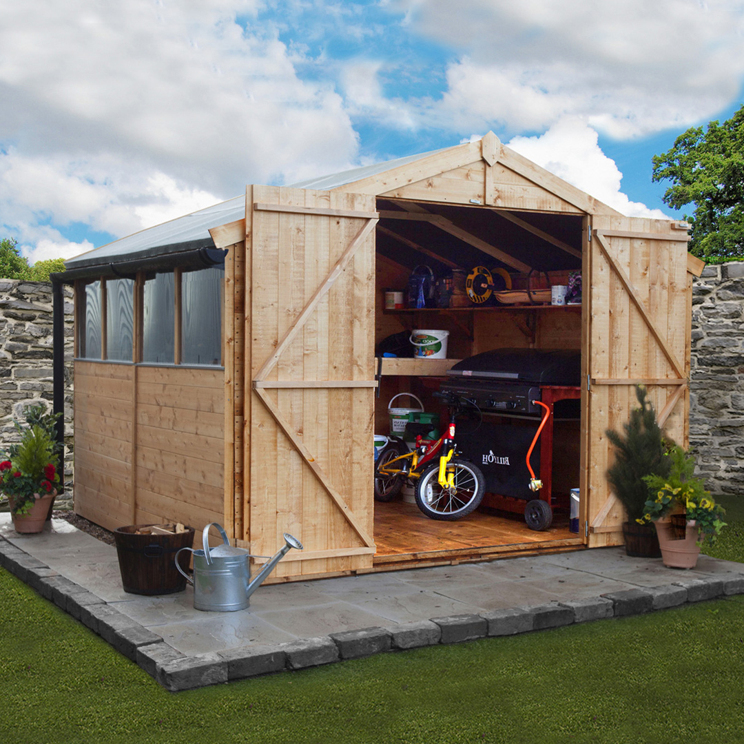 8 x 10 BillyOh 4000 Windowed Tongue and Groove Apex Garden Shed