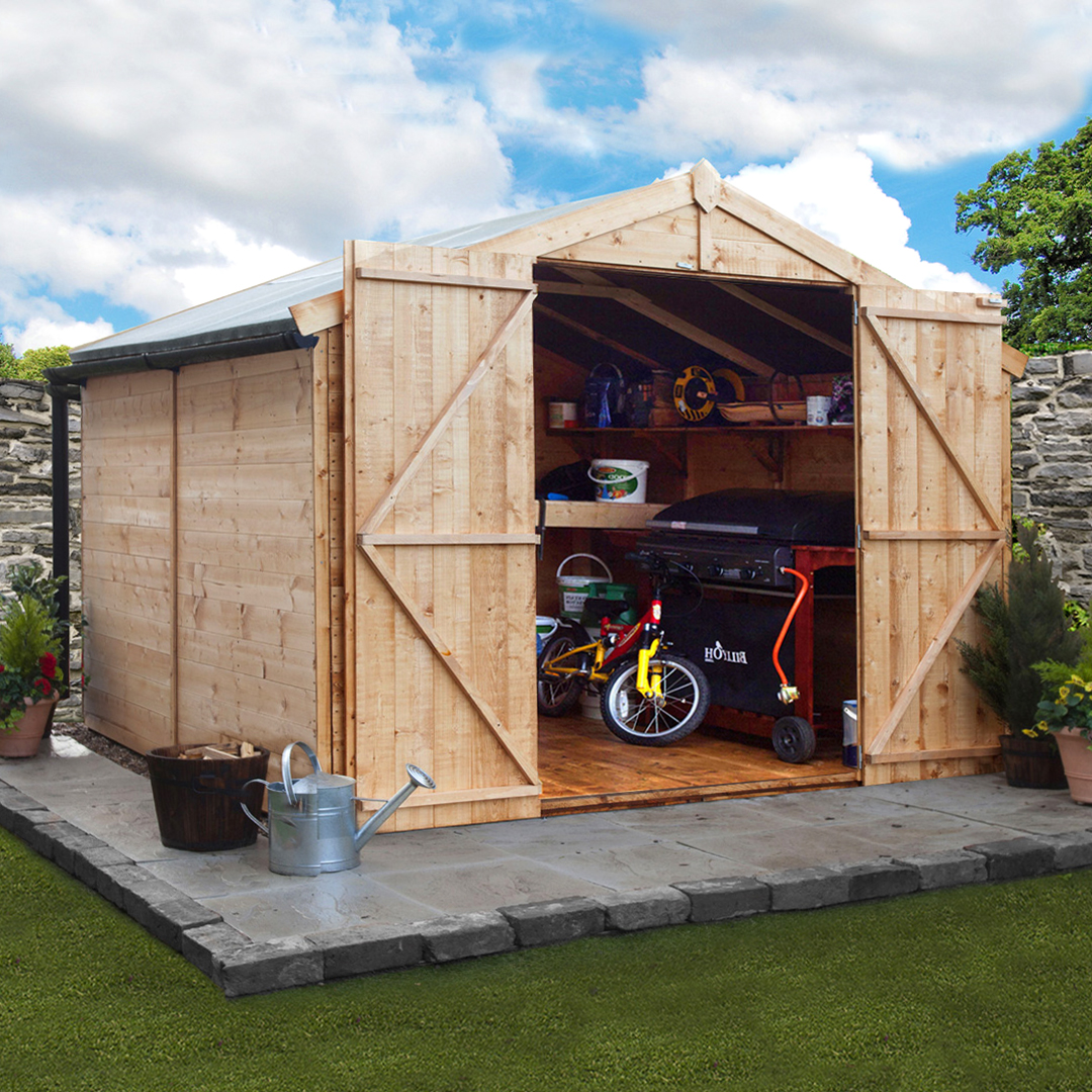 8 x 10 BillyOh 4000 Windowless Tongue and Groove Apex Garden Shed