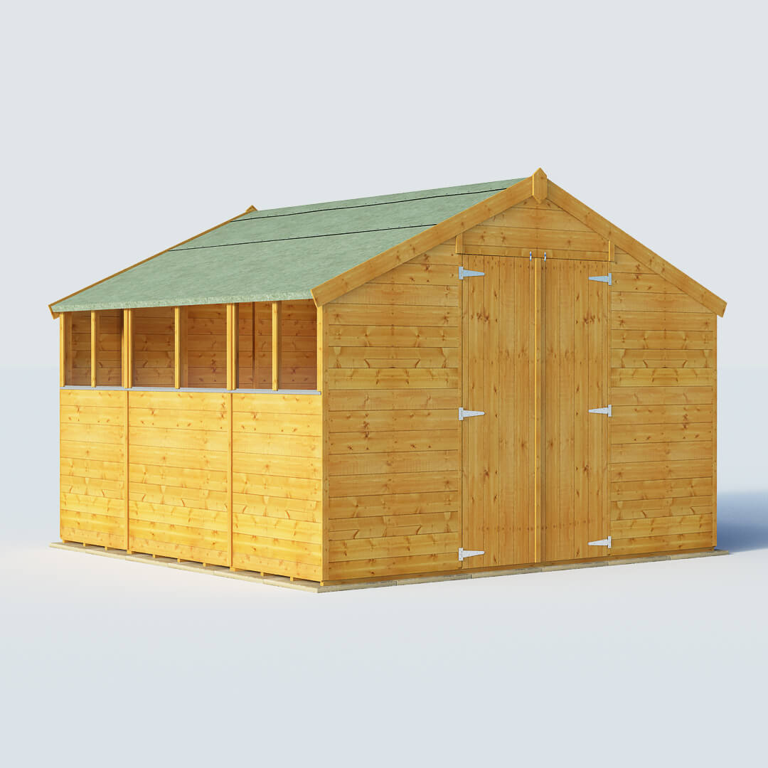 BillyOh 10 x 10 Windowed Tongue and Groove Apex Garden Shed 4000 Range
