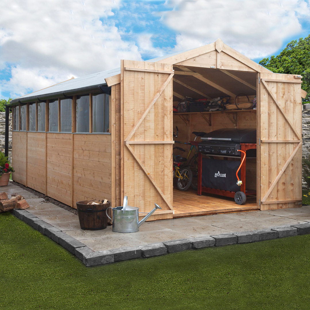 BillyOh 16 x 10 Windowed Tongue and Groove Apex Garden Shed 4000 Range