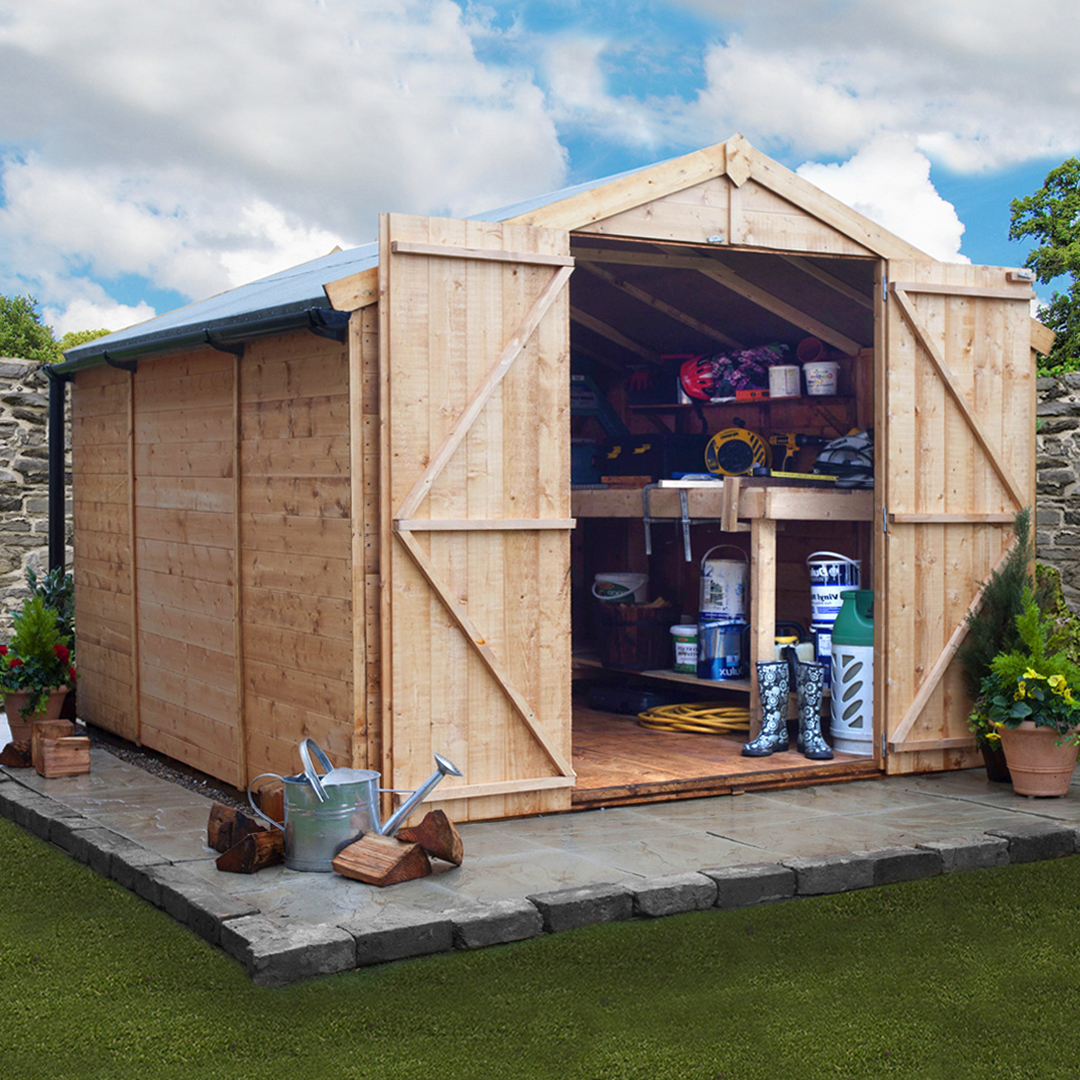 BillyOh 10 x 10 Windowless Tongue and Groove Apex Garden Shed 4000 Range