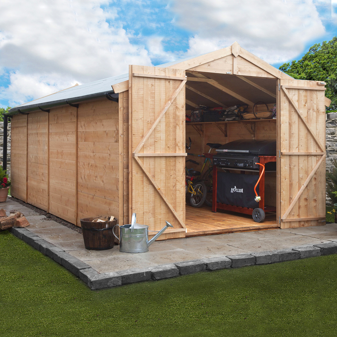 BillyOh 16 x 10 Windowless Tongue and Groove Apex Garden Shed 4000 Range