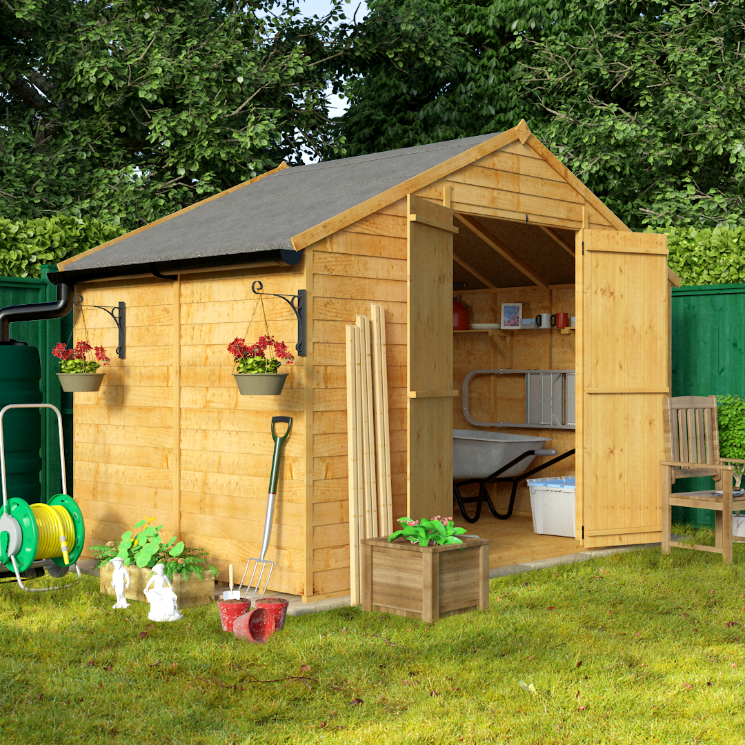 Sale on billyoh 6 x 10 windowless economy overlap apex for Apex garden sheds