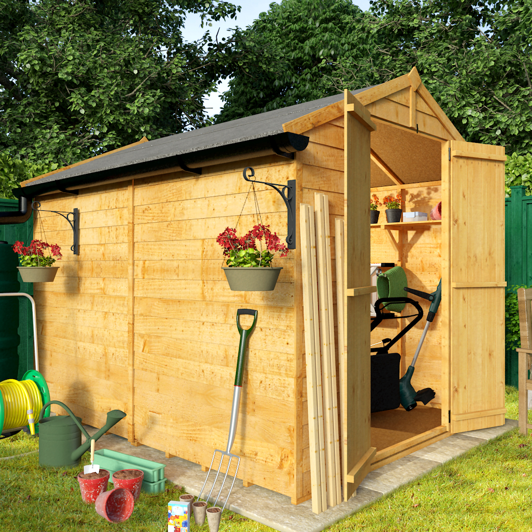 8 x 6 BillyOh 30 Windowless Economy Overlap Apex Garden Shed