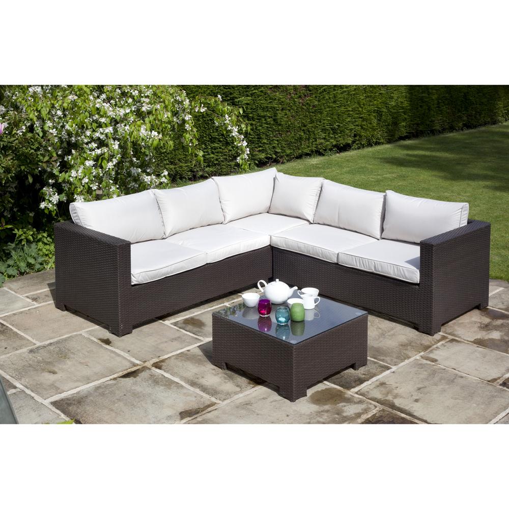 BillyOh Rosario Flat Weave Rattan Corner Sofa Set