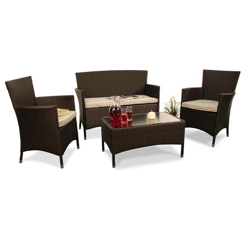 BillyOh Rosario Flat Weave Rattan  ic Lounge Set
