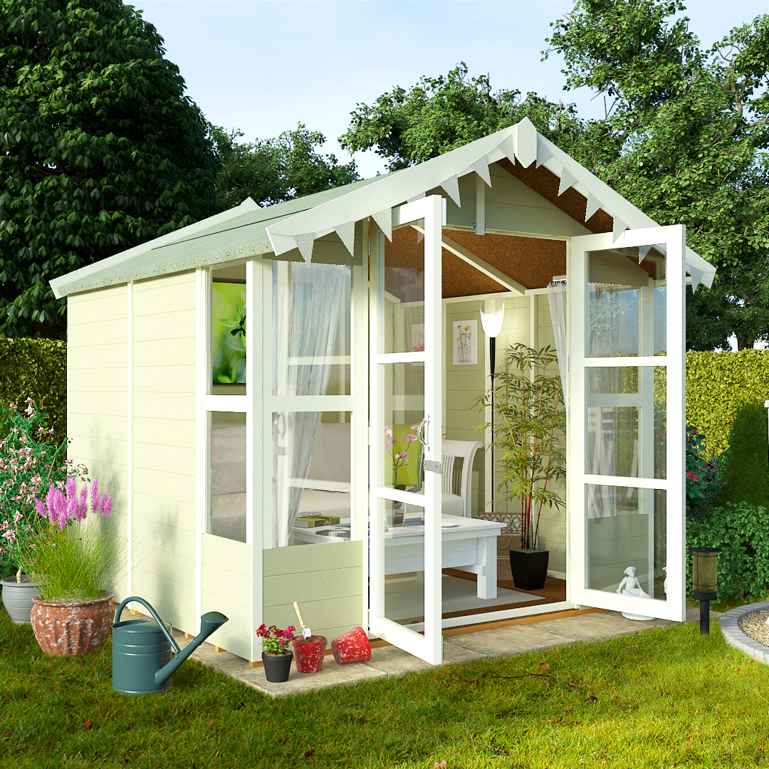 BillyOh 7 x 7 Lucia Tongue and Groove Garden Summerhouse 4000 Range